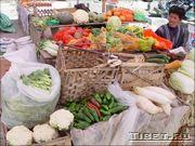 Овощной рынок в Лхасе