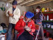 Приготовление цампы - основной пищи в Тибете